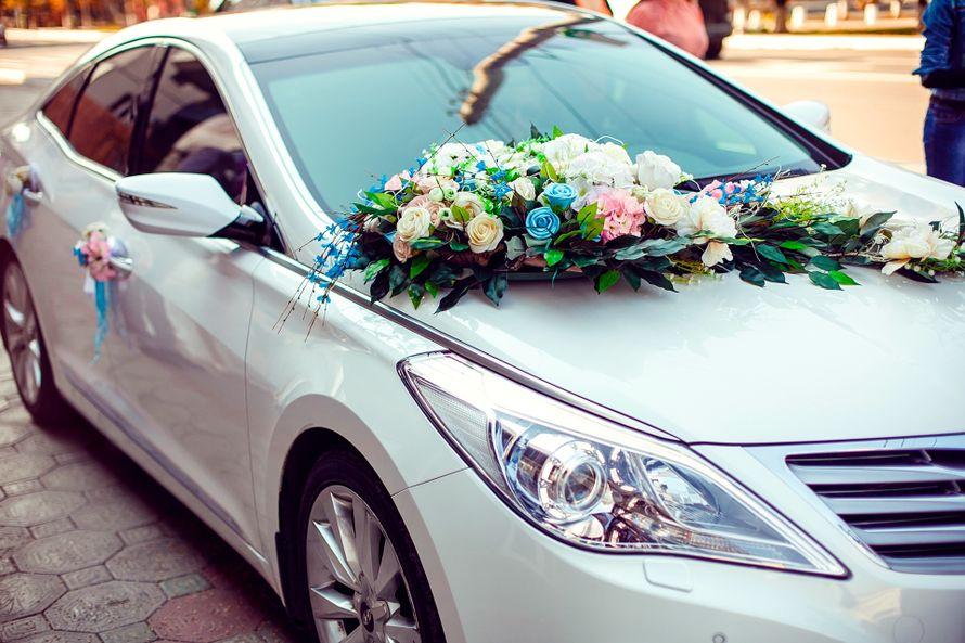 Свадебные букеты на авто, саженцы