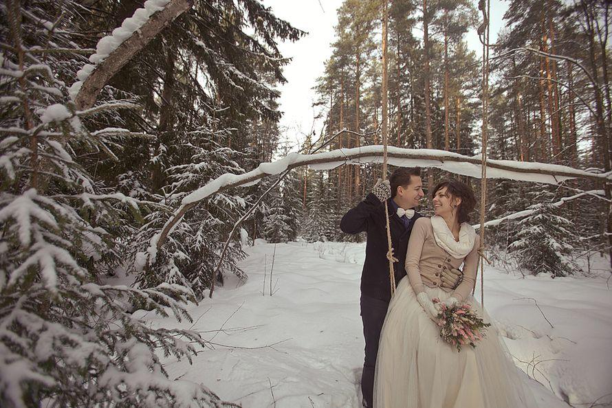 Фото 1934419 в коллекции Зимняя LoveStory Анастасии и Дмитрия - Свадебный фотограф Анна Алфёрова