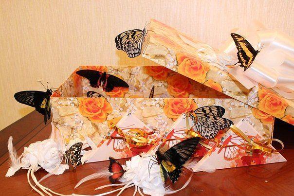 Бабочки в коробке подарок цена волгоград 42