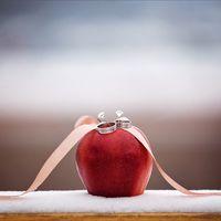 Подушечка для колец на зимней свадьбе Катюши и Дениса