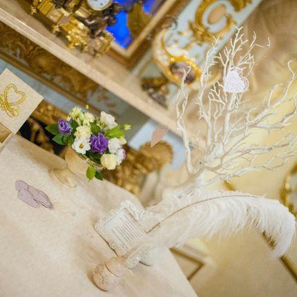 Декор столика для пожеланий