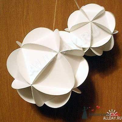 шарик новогодний из бумаги - фото 56338 ленча