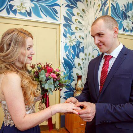 Фотосъемка регистрации брака в ЗАГСе, от 2 часов съемки