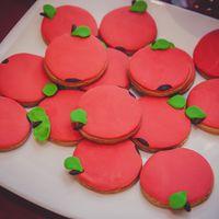 Тематической печенье на свадьбу в силе красное яблоко