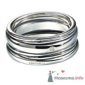 """Кольцо из серебра 925, вставка-бриллиант - фото 5771 Ювелирный магазин """"ИнтерГолд"""""""