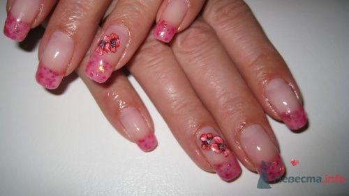 Красный френч - фото 6249 PerfectioNails - наращивание ногтей гелем и акрилом
