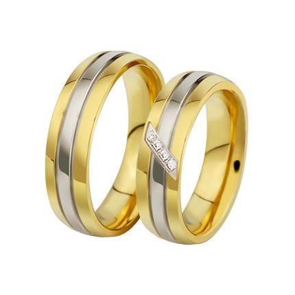 Обручальные кольца с бриллиантом на заказ