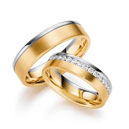 Золотые обручальные кольца с бриллиантами на заказ