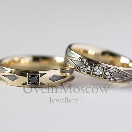 Обручальные кольца с бриллиантами  (Арт 3450)