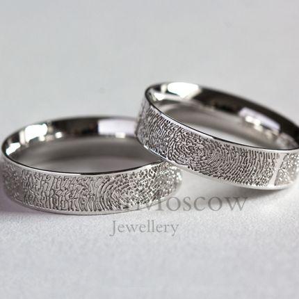 Обручальные кольца с отпечатками пальцев (Арт 3465)