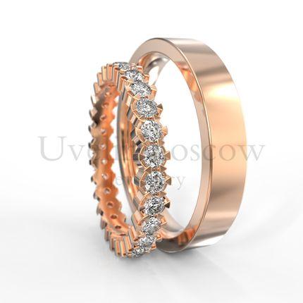 Обручальные кольца с бриллиантами (Арт 1513)