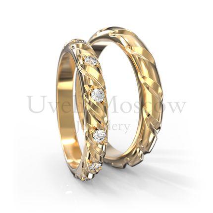 Обручальные кольца с бриллиантами (Арт 1778)