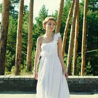 Свадебное платье со шлейфом, в греческом стиле.