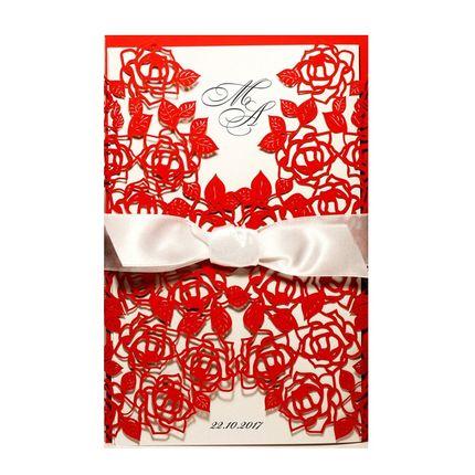 Свадебное приглашение, арт. 1210Kr, цена за 1 шт