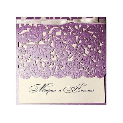 Свадебное приглашение, арт.1258Si, цена за 1 шт