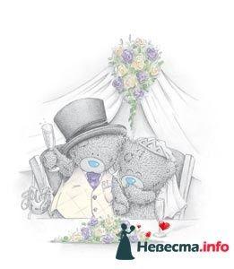 """Фото 113680 в коллекции Свадебные бокалы с мишками Тедди - """"Aнютa"""" - свадебные бокалы и аксессуары"""
