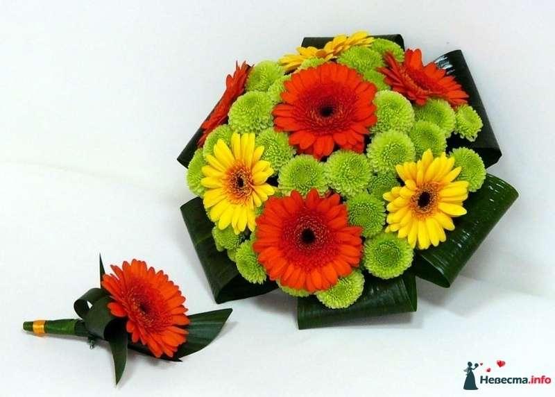 Букет невесты из гербер и хризантем  - фото 121667 kosca