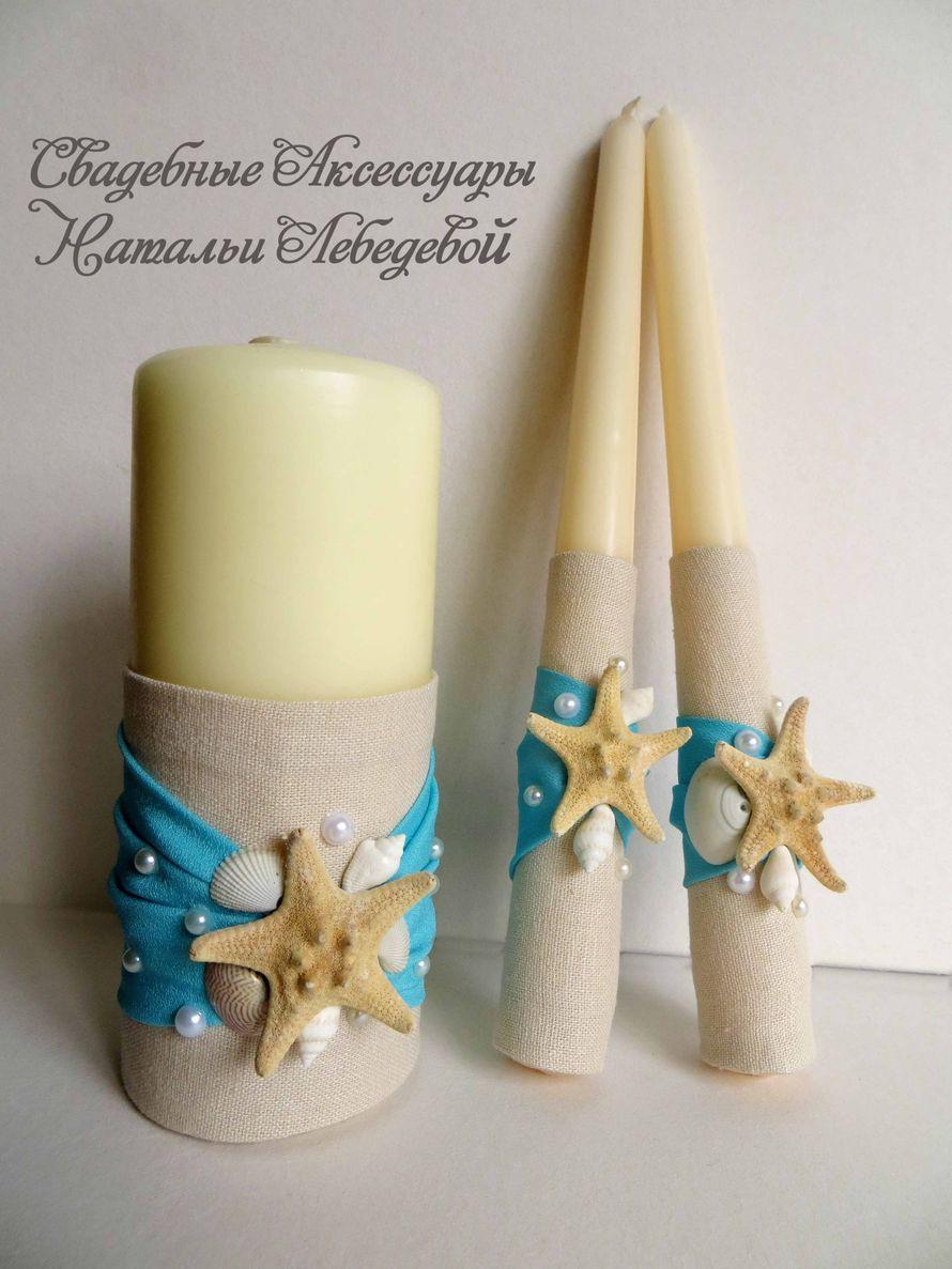 Свечи в морском стиле