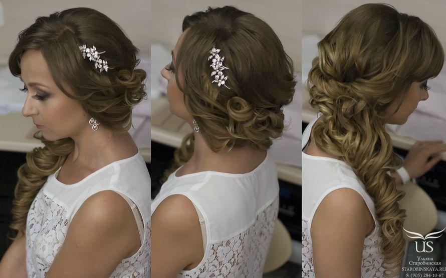 Причёски с локонами на длинные волосы собранные