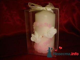 Свеча голуби 9 см - фото 94971 помошь невестам