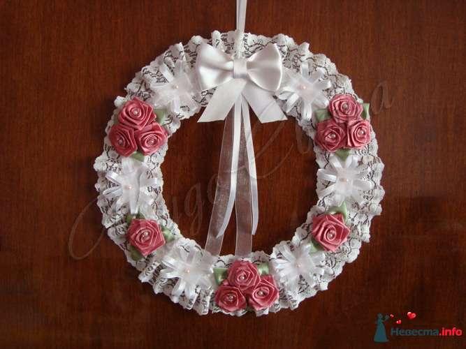 """Свадебный венок на дверь невесты - фото 95433 Студия """"ЧудоСвета"""" - cвадебные аксессуары"""