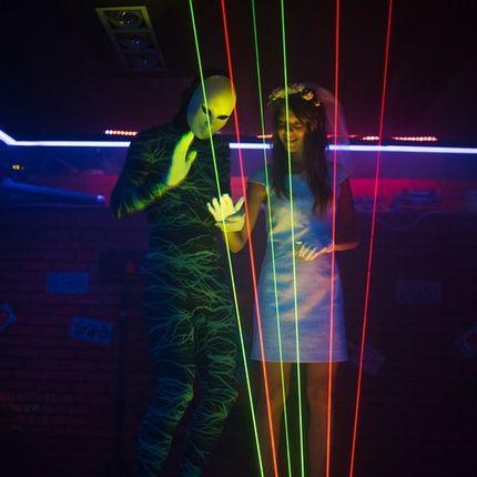 Laser harp - лазерная арфа, от 6 до 20 минут