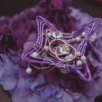 Подушечка для колец из живых цветов. Свадьба Анны и Даниила. Совместный проект с FLO-MASTER event decor sudio