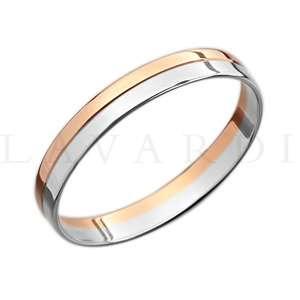 """Двусплавное обручальное кольцо. ширина 4мм. Цена 5-6 тыс рублей за кольцо (цена может быть больше или меньше взависимости от размера и веса) 585 проба. - фото 1234253 Салон обручальных колец """"Lavardi"""""""