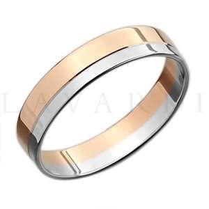"""Двусплавное обручальное кольцо. ширина 5мм. Цена 7-8 тыс рублей за кольцо (цена может быть больше или меньше взависимости от размера и веса) 585 проба. - фото 1234257 Салон обручальных колец """"Lavardi"""""""
