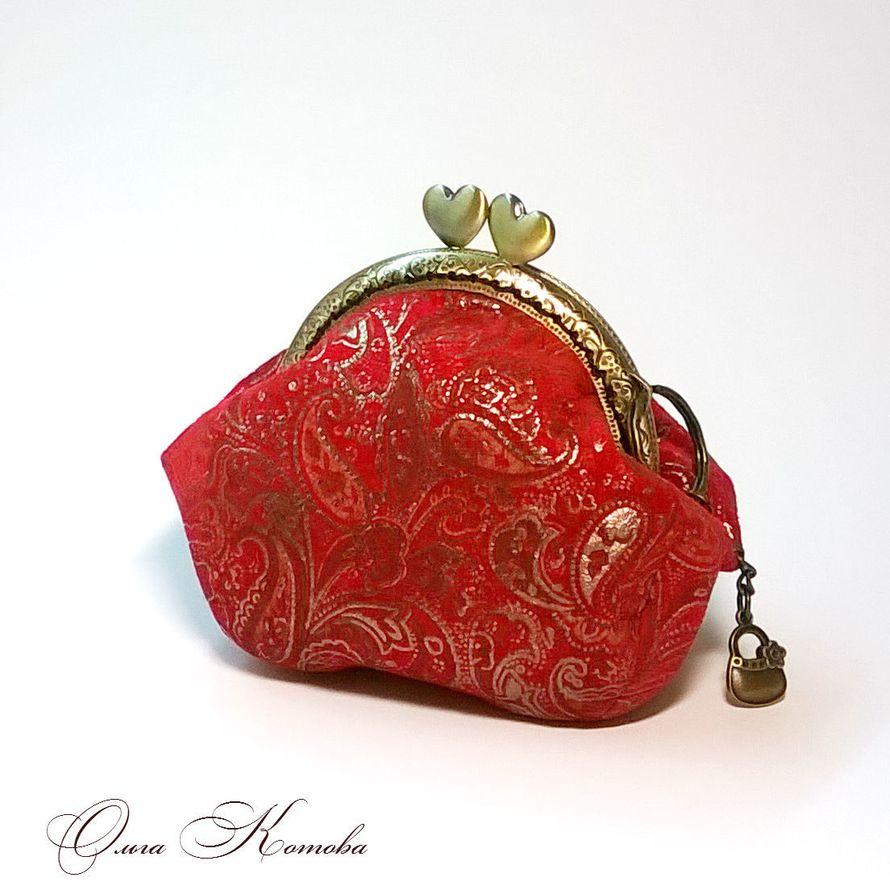 Сумочка-кошелек с фермуаром из замши