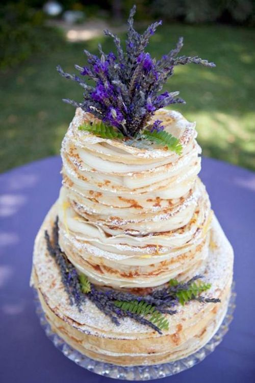 Блинный торт, с добавлением лаванды