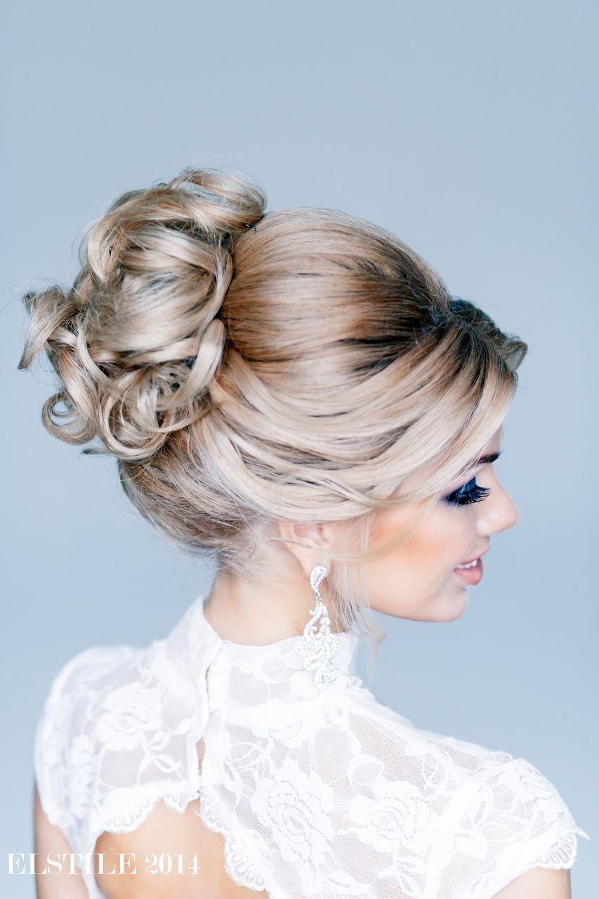 Прическа волосы собраны вверх на средние волосы