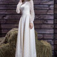 Романтичное свадебного платье из гипюра.