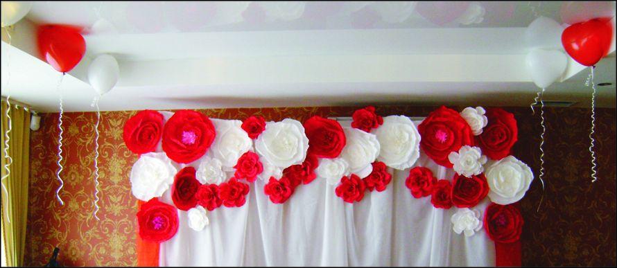 """Большие цветы из креп-бумаги в свадебном декоре - фото 2085044 """"Фантазия"""" - творческая студия Марины Фоминой"""