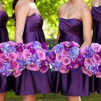 Фото-вдохновитель Подружки невесты в фиолетовом