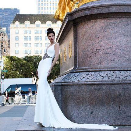 Свадебное платье Фронт Полларди