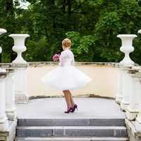 игривое свадебное платье в стиле 60х, кружево