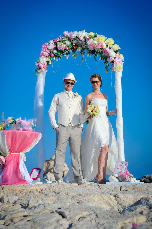 Любовь и Алексей! Символическая церемония на камне Афродиты! - фото 1335095 Агентство Гименей - организация свадеб на Кипре