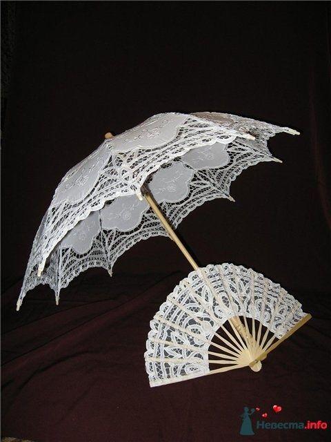 Белый кружевной зонт на прокат 600р. (залог 2000р) - фото 125775 Платье для Золушки - прокат свадебных платьев