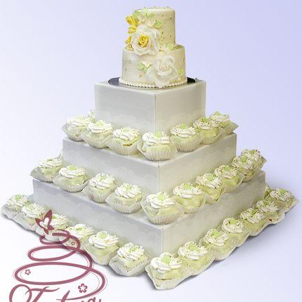 Свадебный капкейк