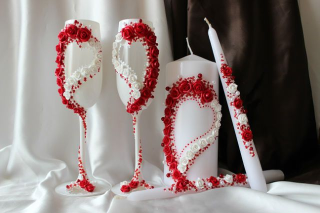 Оформление красной свадьбы своими руками