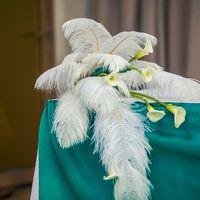 декор из перьев и калл