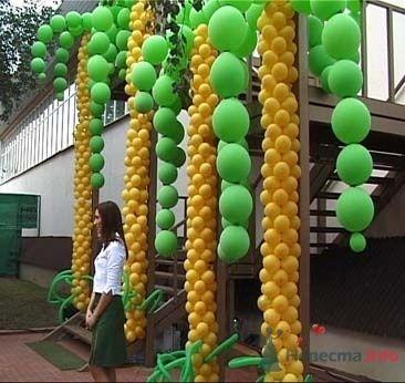 Фото 15565 в коллекции Как  украсить зал шариками самостоятельно - Невеста01