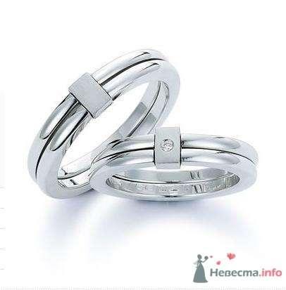 Обручальные кольца из белого золота разъемные - фото 9088 Интернет-магазин Miagold