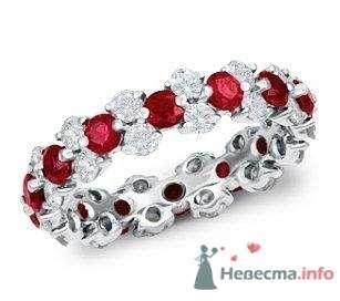 Помолвочное кольцо с бриллиантами и рубинами - фото 9128 Интернет-магазин Miagold