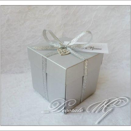 Свадебное приглашение в коробочке