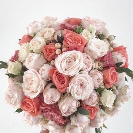 Уникальный, свежий букет невесты