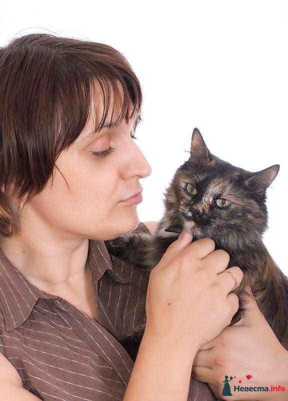 Почти  автопортрет с кошкой Лизой:)