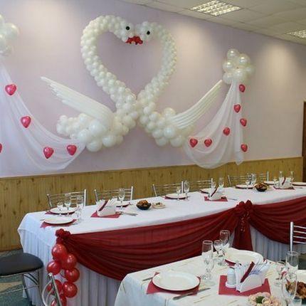 """Пакет оформления шарами """"Свадебные лебеди"""""""