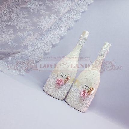 Декор свадебных бутылок - артикул 11